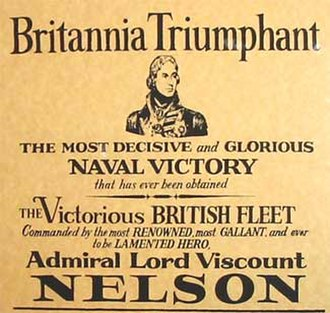 British Armed Forces - A modern reproduction of an 1805 poster commemorating the Battle of Trafalgar.