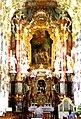 Baviera. Iglesia de Wies (Wieskirche). Altar mayor.jpg