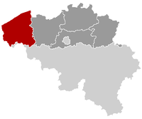 Location of Flandres Ocidental