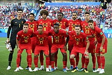 41f0dfe4582 The Belgian football team at the quarter finals of the FIFA World Cup 2018