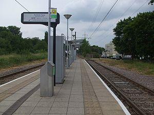 Belgrave Walk tram stop - Image: Belgrave Walk tramstop look west
