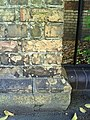 Benchmark on wall pier outside ^14 Museum Road - geograph.org.uk - 2178138.jpg