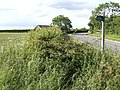 Bend in the road - footpath starts here - geograph.org.uk - 473836.jpg