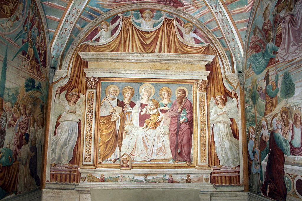 Benozzo gozzoli, Tabernacolo della madonna della tosse, 1484, 03