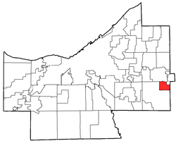 Location of Bentleyville in Cuyahoga County