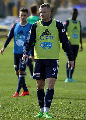Besart Berisha - Berisha in training for Melbourne Victory, May 2015