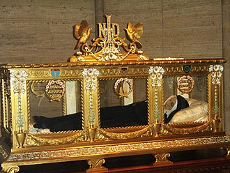 Sisters of Charity of Nevers - The sarcophagus of Saint Bernadette of Lourdes.