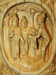 A carving in ivory