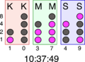 Binary clock (Icelandic).png