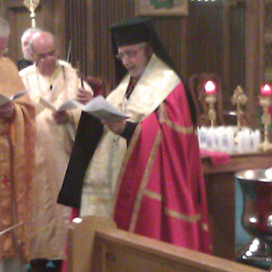 Nicholas Samra - Bishop Nicholas Samra at Annunciation Melkite Catholic Cathedral, January 2012