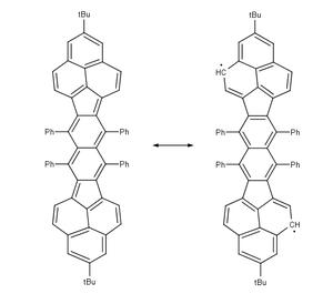 Non-Kekulé molecule - Bisphenalenyl biradical