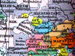 County of Blankenburg - County of Blankenburg (blue) about 1400