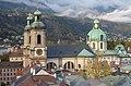 Blick vom Stadtturm des Alten Rathauses zum Innsbrucker Dom 2.JPG