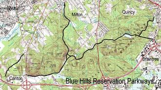 Blue Hills Reservation Parkways - Image: Blue Hills Reservation Parkways