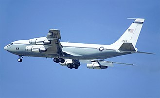 Boeing WC-135 Constant Phoenix - The same aircraft seen at RAF Alconbury in 1992