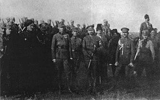 Archduke Wilhelm of Austria - With Petr Bolbochan in Ukraine (1918)