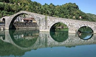 Borgo a Mozzano - Ponte della Maddalena / Ponte del Diavolo / Devil's Bridge.