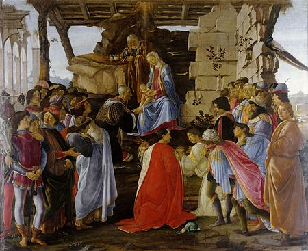 Botticelli - Adoration of the Magi (Zanobi Altar) - Uffizi.jpg