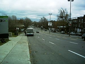 Pie-IX Boulevard - Metro Pie-IX, looking south from Sherbrooke Street.