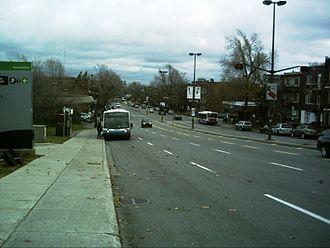 Pie-IX Boulevard - Metro Pie-IX, looking south from Sherbrooke Street.