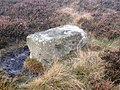 Boundary stone on Brown Hill - geograph.org.uk - 1597922.jpg