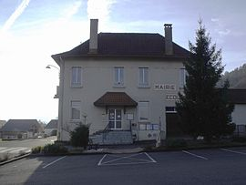 The town hall in Bourguignon