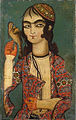 Boy Holding a Falcon, Qajar Dynasty (18th century).jpg