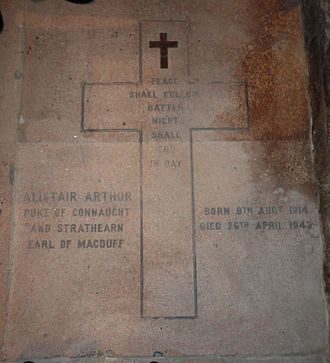 Alastair Windsor, 2nd Duke of Connaught and Strathearn - Braemar, Mar Lodge Estate, St Ninian's Chapel - Grave of the 2nd Duke of Connaught (1914–1943)