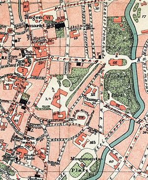 Brunswick Palace - 1899 Brunswick. Brunswick Castle is in the middle of the map (37)