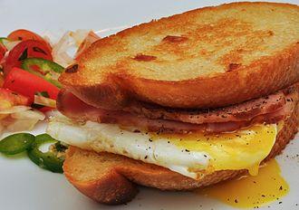 Breakfast sandwich - Image: Breakfast sandwich