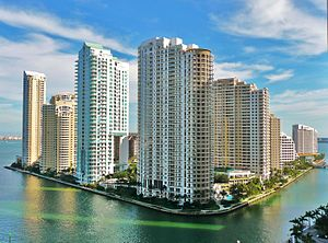 Brickell Key - Brickell Key from the northwest, 2010