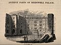 Bridewell Hospital; part of the courtyard with ruins on the Wellcome V0012966.jpg