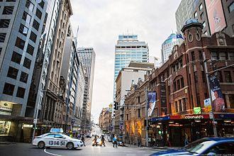 Bridge Street, Sydney - Bridge Street looking east, in 2014