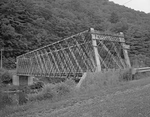 Bridge in Brown Township - Image: Bridge in Brown Township HAER PA 460 3