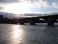 Bridge over the frozen Potomac River, at dusk, 2010 01 15 -b.jpg