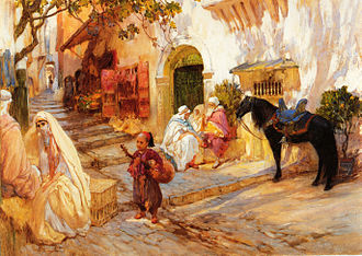 Frederick Arthur Bridgman - A Street Scene in Algeria