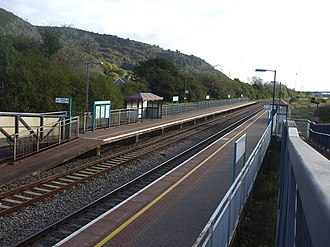 Briton Ferry railway station - Image: Briton Ferry railway station in 2009