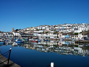 Brixham - Image: Brixham harbour in summer
