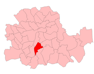 Brixton (UK Parliament constituency) - Brixton in London 1950–74