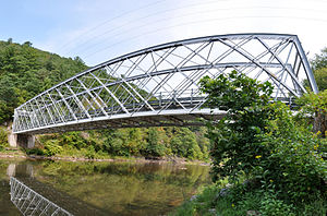 Bridge in Brown Township - Panorama of the bridge in 2012