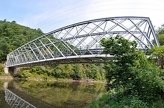 Bridge in Brown Township - Panorama of the bridge in 2012