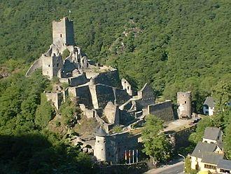 Manderscheid, Bernkastel-Wittlich - Ruins of the Niederburg