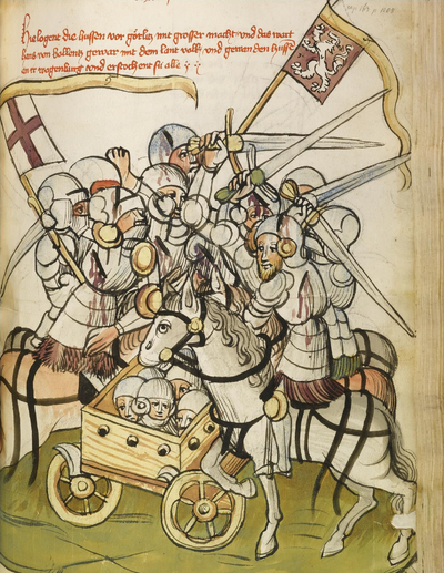 The Battle of Kratzau between Hussites and Catholic forces led by Hans von Polenz Buch-kaiser-sigismund-L09740-26-lr-8.png