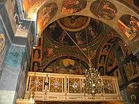 Bucuresti, Romania, Biserica Sfantul Nicolae - Dintr-o zi (plafon), B-II-m-A-17931.JPG
