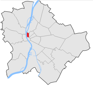 Lipótváros - Leopold Town in Budapest (red)