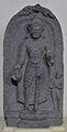 Buddha Offering Protection - Basalt - Pala Period Circa 9th Century AD - Nalanda - Archaeological Museum - Nalanda - Bihar - Indian Buddhist Art - Exhibition - Indian Museum - Kolkata 2012-12-21 2327.JPG