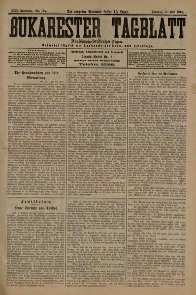 File:Bukarester Tagblatt 1910-05-17, nr. 107.pdf