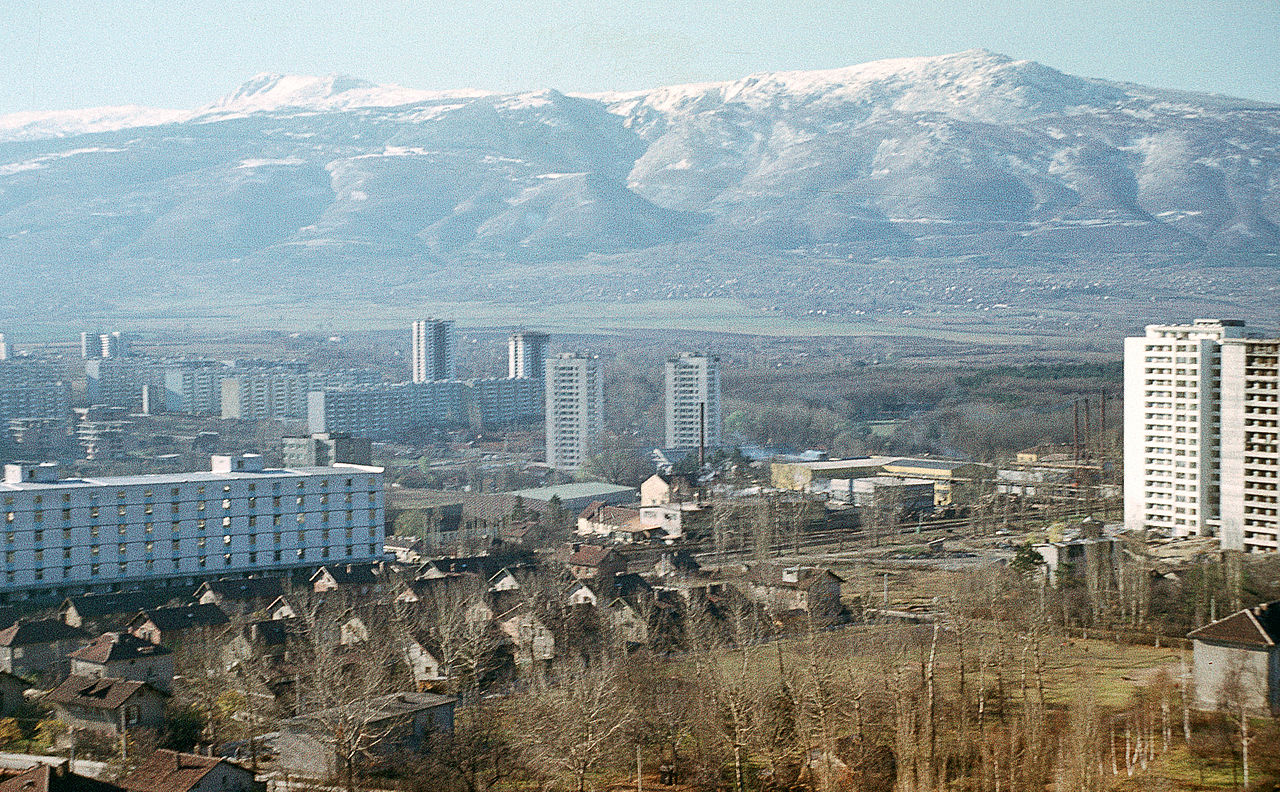 File:Bulgarien um 1970 Sofia, Sofioter Ebene und Witoscha im ...