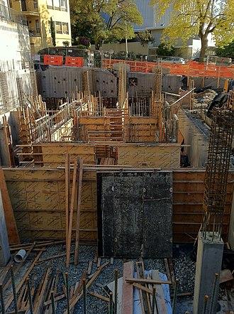 Bullitt Center - Construction in October 2011.