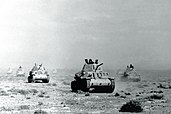 Italian tanks during the invasion of Egypt